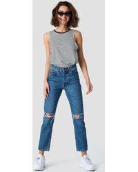 Rut&Circle - Louisa Destroyed Jeans Dark Blue Denim - Lyst