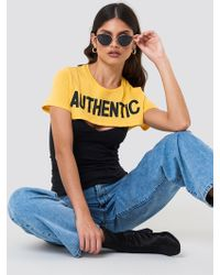 NA-KD - Authentic Short Top - Lyst