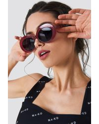NA-KD - Oval Sunglasses - Lyst