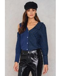 Dance & Marvel - Solid Plaid Top - Lyst