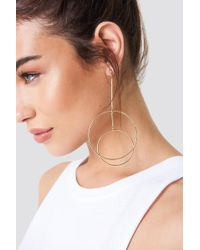 NA-KD - Double Circles Earring - Lyst