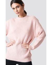Trendyol - Powder Collar Sweater Powder Pink - Lyst