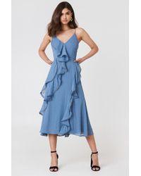 Keepsake - Hideaway Dress Steel Blue - Lyst