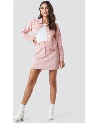 88ae763edd NA-KD - Co-ord Corduroy Mini Skirt Pink - Lyst
