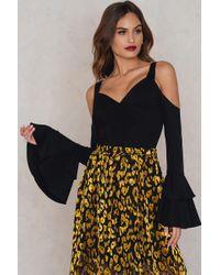 Lavish Alice - Double Frill Sleeve Bodysuit Black - Lyst