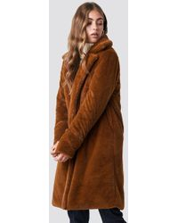 Rut&Circle - Luna Fold Sleeve Coat Cognac - Lyst