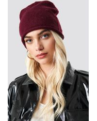 Rut&Circle - Savanna Roll Up Beanie Wine Red - Lyst