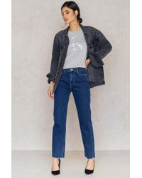 CALVIN KLEIN 205W39NYC - High Rise Straight Jeans - Lyst