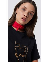NA-KD - Satin Scarf Red - Lyst