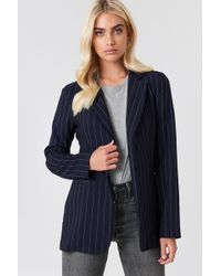 Trendyol - Pinstriped Open Jacket - Lyst