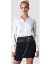 6931c15269 Brunello Cucinelli Mid-Seam Stretch A-Line Skirt in Natural - Lyst