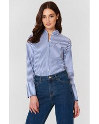Mango   Pearls Cotton Shirt   Lyst