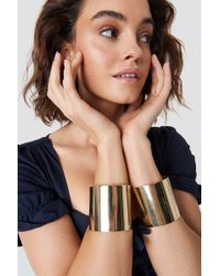 NA-KD - Double Arm Cuff Gold - Lyst