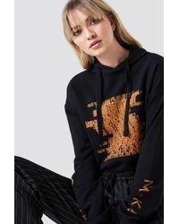 NA-KD - Good Girl Hoodie Black/orange - Lyst