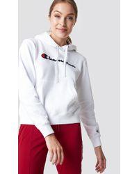 Champion - Hooded Sweatshirt White - Lyst