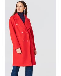 NA-KD - Double Breasted Coat - Lyst