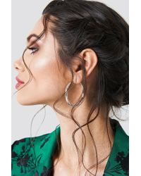 NA-KD - Uneven Hoop Earrings - Lyst