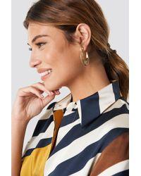 Mango - Molly Earrings Gold - Lyst