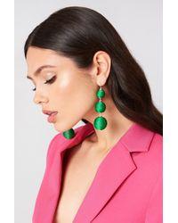 NA-KD | Textured Triple Globe Drop Earrings | Lyst
