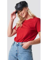 NA-KD - Basic Oversized Tee Red - Lyst