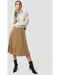 Trendyol - Milla Pleated Midi Skirt Camel - Lyst