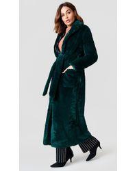 Boohoo - Belted Faux Fur Coat - Lyst