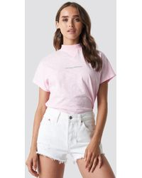 NA-KD - Nothing Personal Cap Sleeve Top Light Pink - Lyst