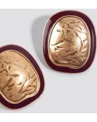 Mango - Grace Earrings Gold - Lyst