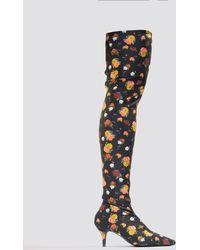 NA-KD - Knee High Kitten Heel Boots - Lyst