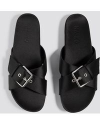 NA-KD - Buckle Detail Satin Slippers - Lyst