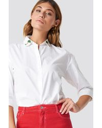 Mango - Palmeras Shirt White - Lyst