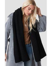 NA-KD - Basic Knitted Scarf Black - Lyst