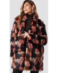 Rut&Circle - Tekla Fake Fur Coat Pink - Lyst