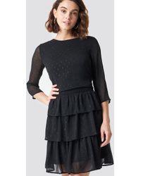 Rut&Circle - Glitter Dot Frill Dress Black - Lyst