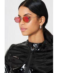 NA-KD - Oval Metal Sunglasses - Lyst