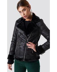 Glamorous - Perfect Bike Jacket Black - Lyst