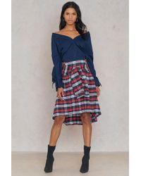 Trendyol - Tie Front Frill Skirt - Lyst