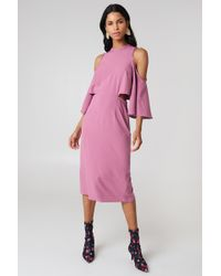 NA-KD - Cut Out Tied Neck Dress - Lyst