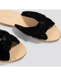 Mango - Knot Velvet Sandals - Lyst