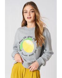 Rut&Circle - Lemon Sweatshirt Lt Greymelange - Lyst