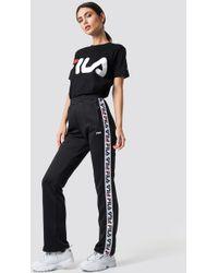 Fila - Thora Track Trousers Black - Lyst