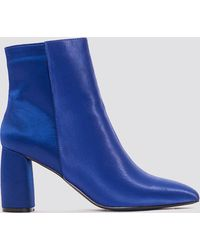 NA-KD - Shiny Ankle Boots - Lyst