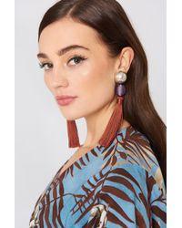 Mango - Tassel Earrings - Lyst