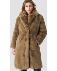 Mango - Chilly Coat Brown - Lyst