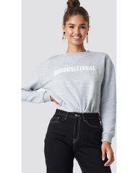 Mango - Paks Sweatshirt Grey - Lyst