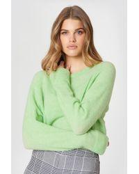 Samsøe & Samsøe - Nor O-n Short Sweater Patinagreen Mel - Lyst