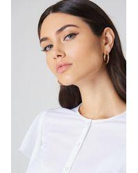 NA-KD - Chunky Hoop Earrings - Lyst