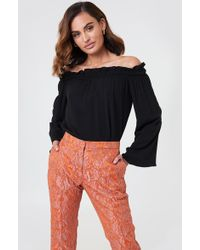 3b50aef8d1f L'Agence Stephan Off The Shoulder Top in Black - Lyst