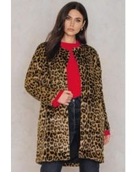 Just Female | Leo Fake Fur Coat | Lyst