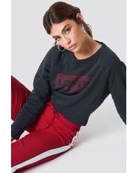 Levi's - Relaxed Graphic Crew Sweatshirt Caviar - Lyst